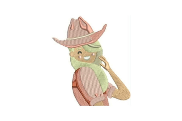 Blonde with Cowboy Hat Farm & Country Embroidery Design By Embroidery Designs - Image 1