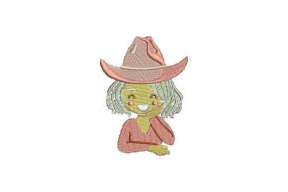 Blonde with Cowboy Hat Cowboy & Cowgirl Embroidery Design By Embroidery Designs - Image 1