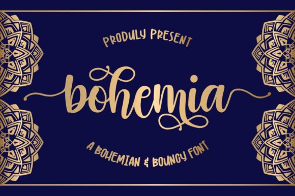 Print on Demand: Bohemia Script & Handwritten Font By goodjavastudio