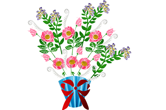 Print on Demand: Bouquet Graphic Illustrations By arts4busykids