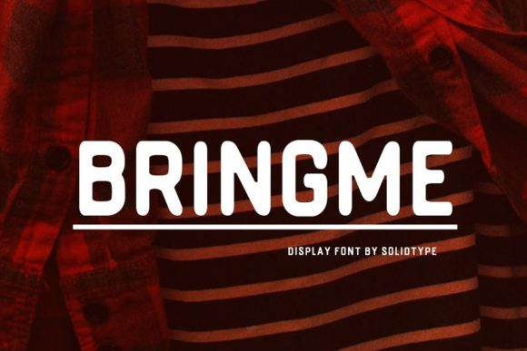 Print on Demand: Bringme Display Font By Solidtype