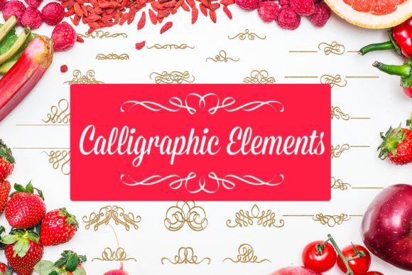 Calligraphic Elements Graphic Crafts By Craft-N-Cuts