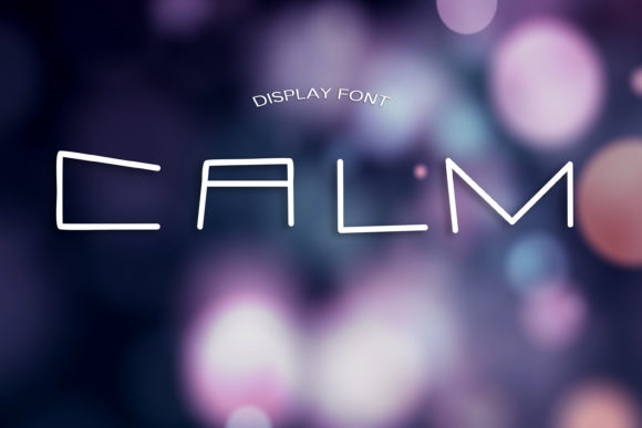 Print on Demand: Calm Display Font By dmytroyarish