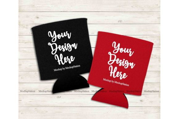 Print on Demand: Can Cooler Graphic Product Mockups By Mockup Station - Image 1