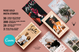 Print on Demand: Canva Rose Gold Instagram Stories Graphic Websites By SilverStag