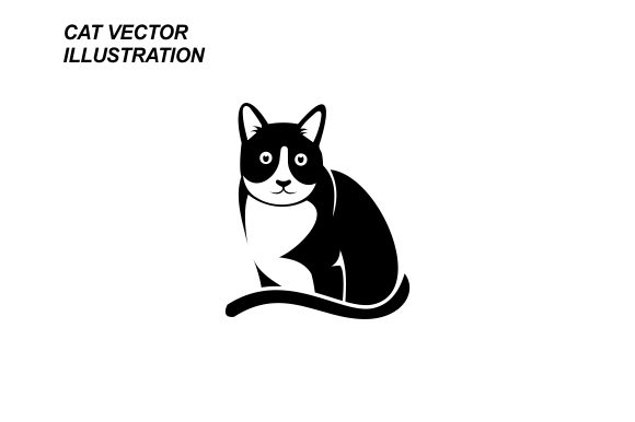 Download Free Cat Vector Illustration Graphic By Therintproject Creative Fabrica for Cricut Explore, Silhouette and other cutting machines.