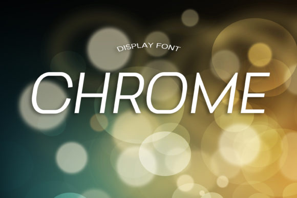 Print on Demand: Chrome Display Font By dmytroyarish