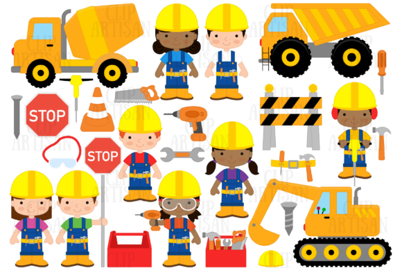 Construction Graphic Illustrations By ClipArtisan