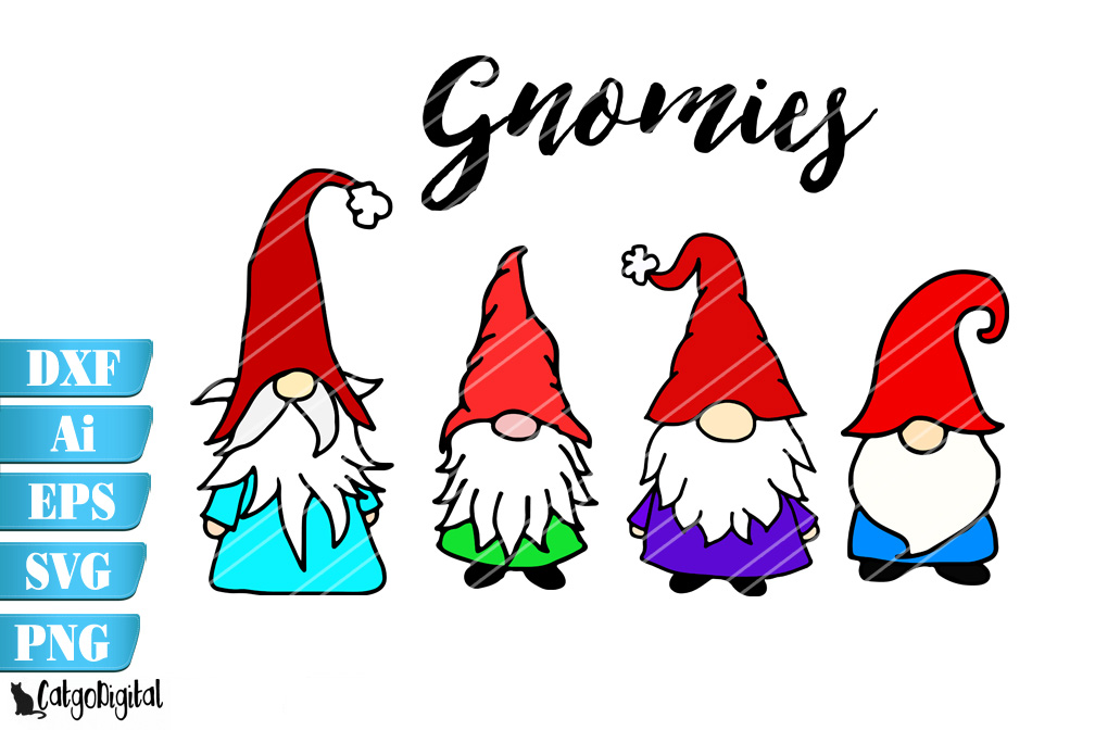 Download Free Cute Gnomes Graphic By Catgodigital Creative Fabrica for Cricut Explore, Silhouette and other cutting machines.