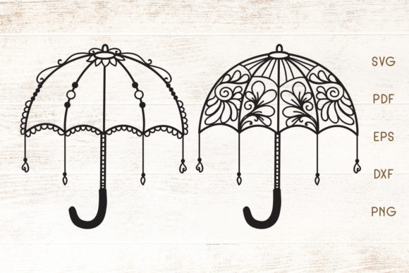 Download Free Decorative Floral Umbrella Vector Graphic By Dasagani for Cricut Explore, Silhouette and other cutting machines.