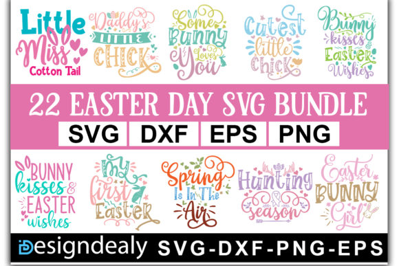 Easter Bundle Quotes Graphic Download