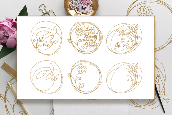 Download Free Foil Quill Floral Graphic By Craft N Cuts Creative Fabrica for Cricut Explore, Silhouette and other cutting machines.