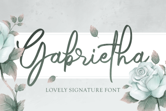 Print on Demand: Gabrietha Script & Handwritten Font By figuree studio