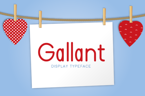 Print on Demand: Gallant Display Font By FontEden