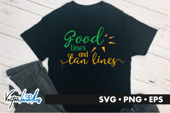 Print on Demand: Good Times Tan Lines Graphic Crafts By vectorbundles