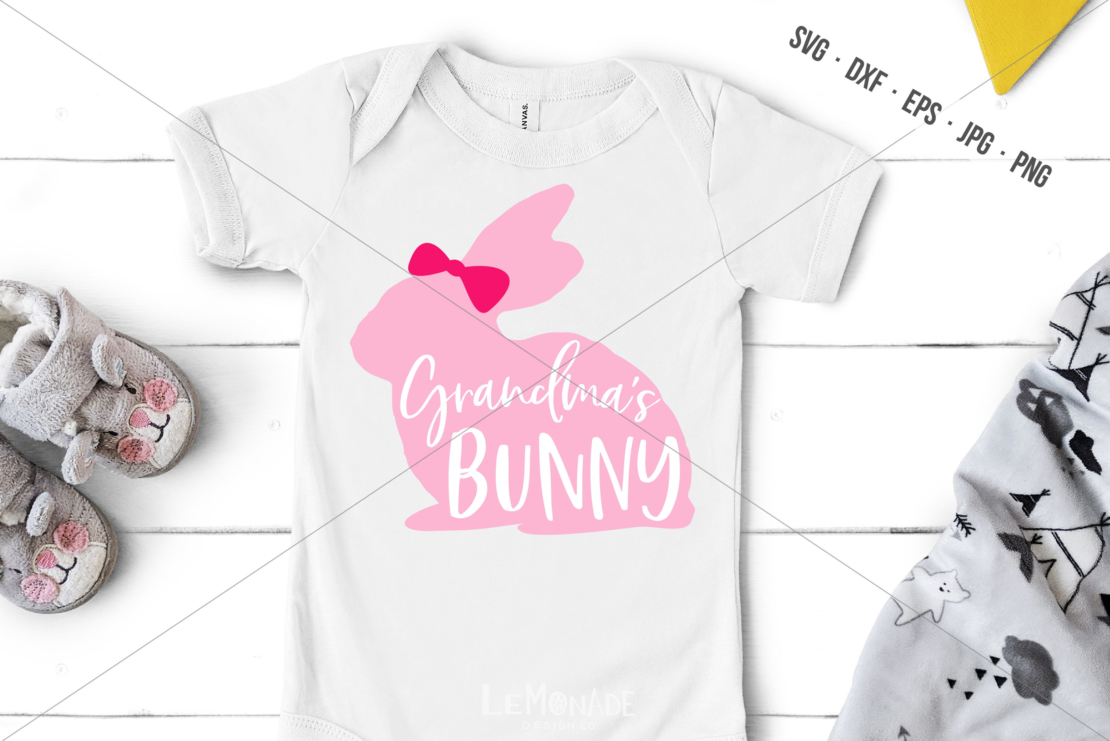 Download Free Grandma S Bunny Easter Graphic By Lemonade Design Co Creative for Cricut Explore, Silhouette and other cutting machines.