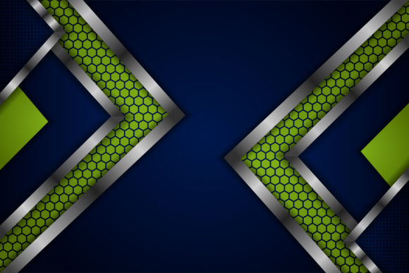 Download Free Green Blue Hexagon Dot Pattern Background Graphic By Noory for Cricut Explore, Silhouette and other cutting machines.