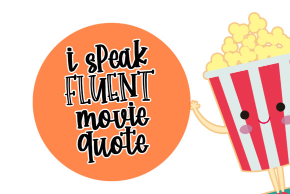 Print on Demand: Happy Popcorn Script & Handwritten Font By dmletter31 - Image 4