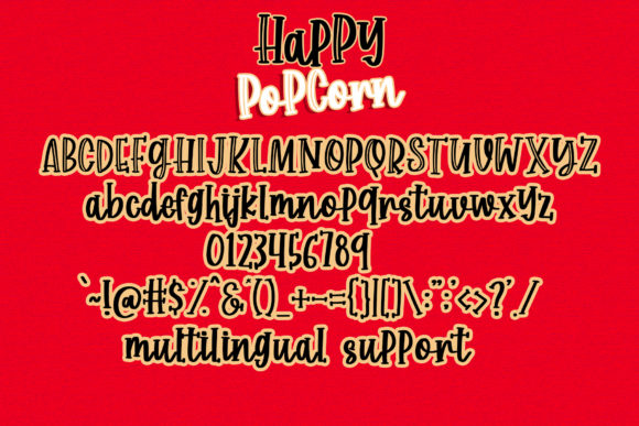 Print on Demand: Happy Popcorn Script & Handwritten Font By dmletter31 - Image 6