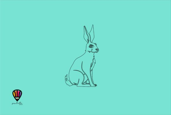 Hare Graphic Illustrations By printablesplazza