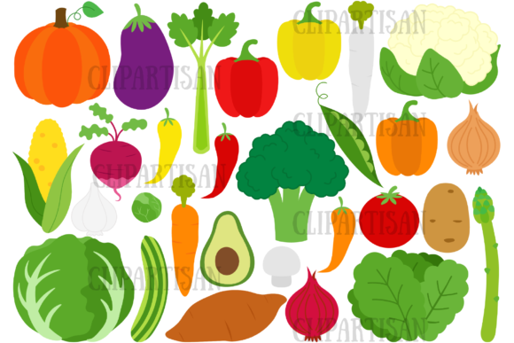 Healthy Food Graphic Illustrations By ClipArtisan