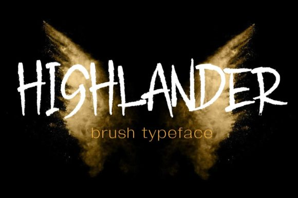 Print on Demand: Highlander Blackletter Font By aminmario