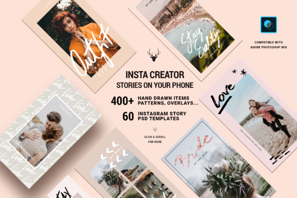 Print on Demand: InstaElements Instagram Stories Kit Graphic Websites By SilverStag