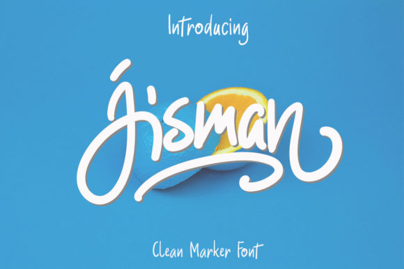 Print on Demand: Jisman Script & Handwritten Font By Niki Studio