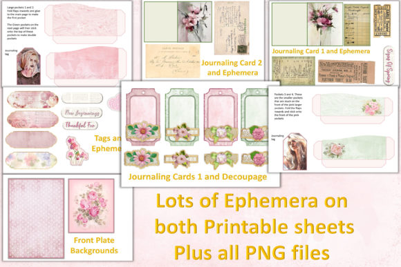 Download Free Journaling Kit With Free Ephemera Graphic By The Paper Princess for Cricut Explore, Silhouette and other cutting machines.