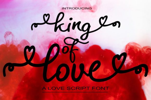 Print on Demand: King of Love Script & Handwritten Font By Bot Kerling