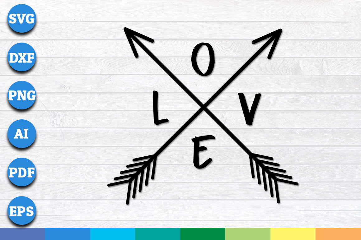 Download Free Love Arrows Valentine Love Graphic By Aartstudioexpo for Cricut Explore, Silhouette and other cutting machines.
