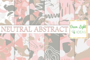 Neutral Abstract Modern Graphic Backgrounds By GreenLightIdeas