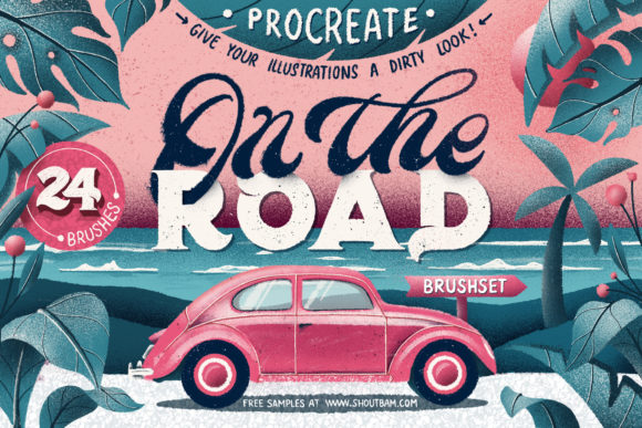 On the Road - Procreate Brush Set Grafik Pinselstriche von Shoutbam