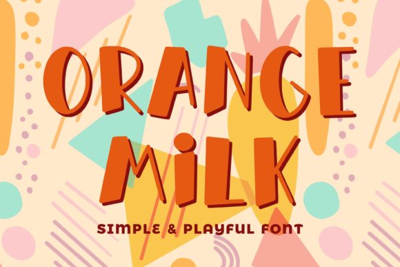 Print on Demand: Orange Milk Script & Handwritten Font By almarkhatype