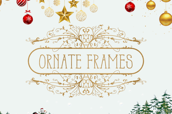 Ornate Floral Frames Graphic Crafts By Craft-N-Cuts
