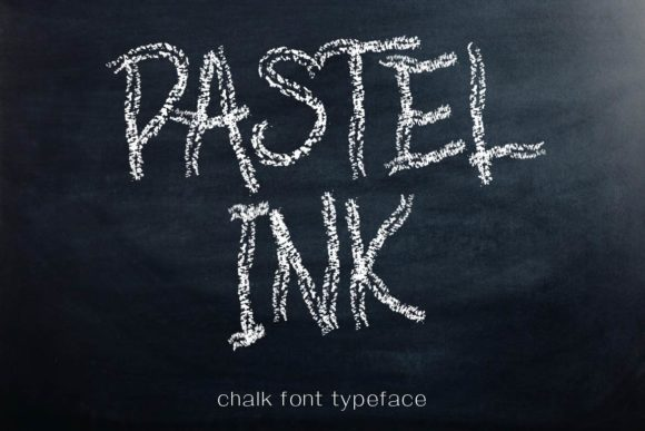 Print on Demand: Pastel Ink Script & Handwritten Font By aminmario
