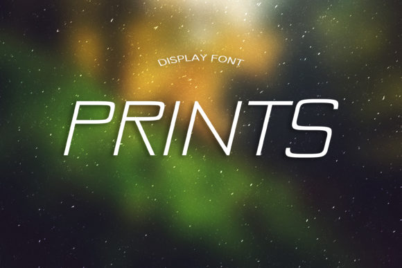 Print on Demand: Prints Display Font By dmytroyarish