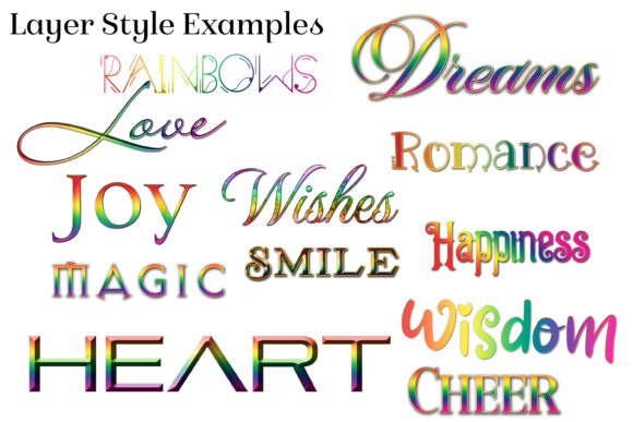 30 Rainbow Layer Styles for Photoshop Graphic Item
