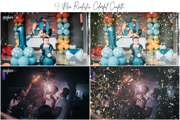 Download Free Realistic Colorful Confetti Pic Overlays Graphic By 3motional for Cricut Explore, Silhouette and other cutting machines.