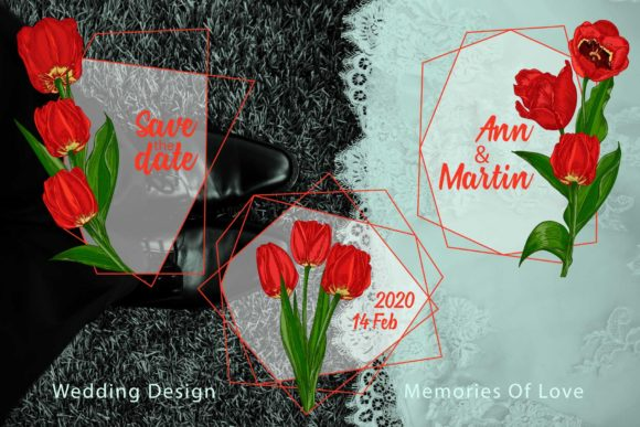 Download Free Red Tulips Vector Clipart Graphic By Z Zajka Creative Fabrica for Cricut Explore, Silhouette and other cutting machines.