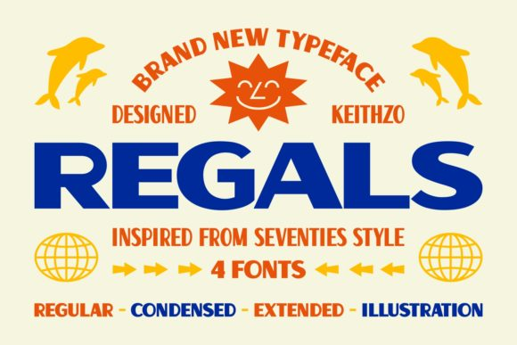 Print on Demand: Regals Sans Serif Font By Keithzo (7NTypes)