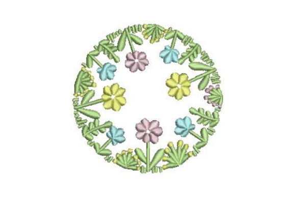 Round Flower Wreath Floral Wreaths Embroidery Design By Embroidery Designs - Image 1
