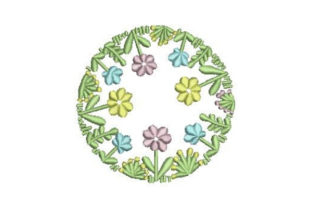 Round Flower Wreath Floral Wreaths Embroidery Design By Embroidery Designs