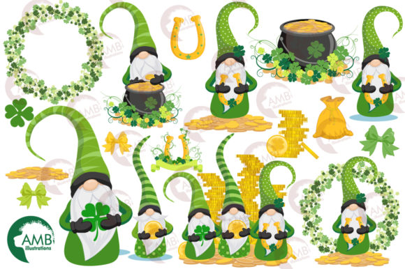 Saint-Patrick's Gnomes Clipart, AMB-2706 Graphic Illustrations By AMBillustrations - Image 4