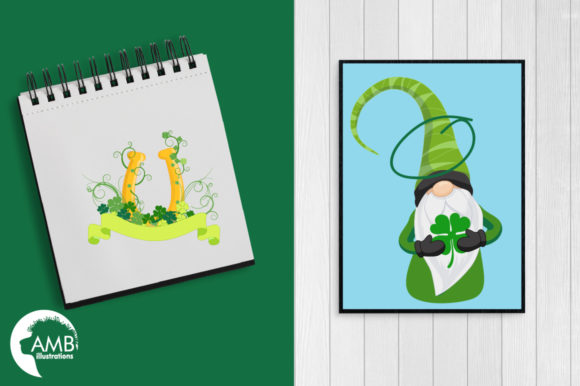 Saint-Patrick's Gnomes Clipart, AMB-2706 Graphic Illustrations By AMBillustrations - Image 5