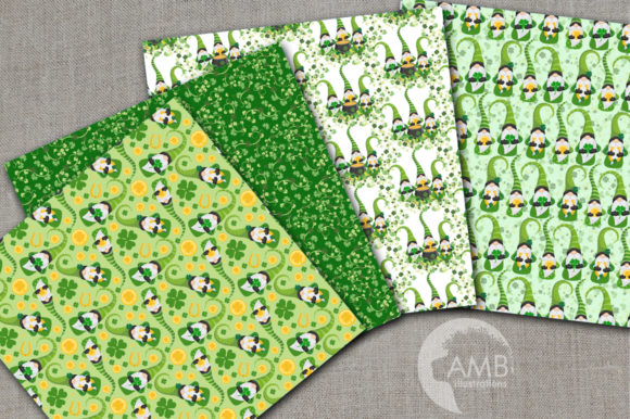 Saint-Patrick's Gnomes Patterns AMB-2707 Graphic Patterns By AMBillustrations - Image 2