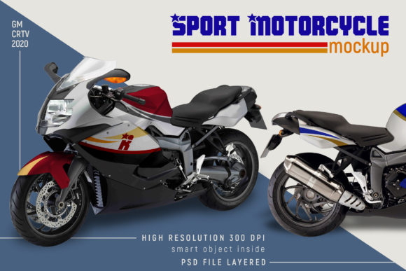Sport Motorcycle Mock-up Graphic