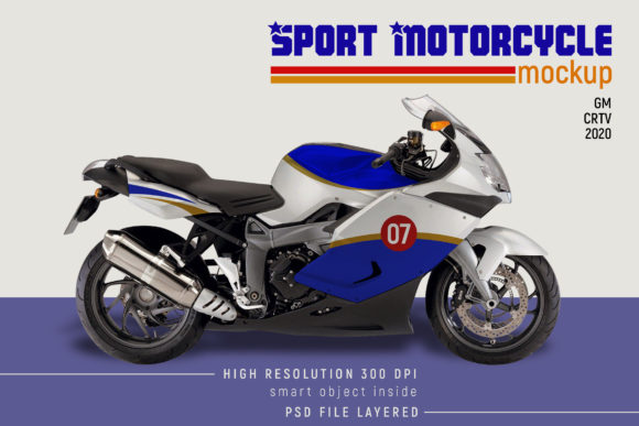 Sport Motorcycle Mock-up Graphic Download