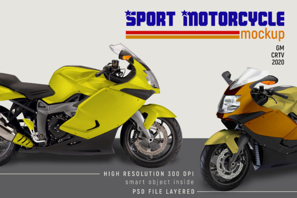 Sport Motorcycle Mock-up Graphic Item