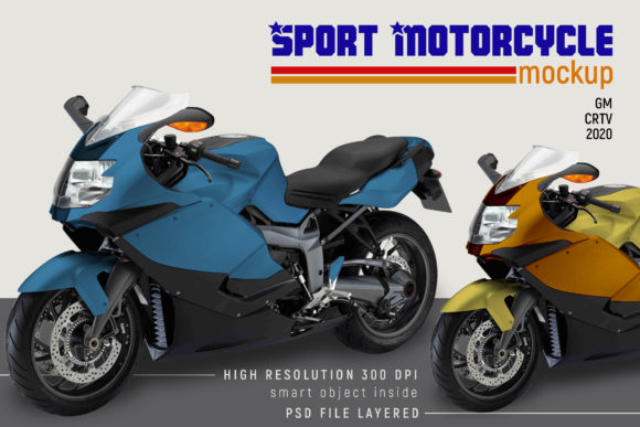 Sport Motorcycle Mock-up Graphic Design